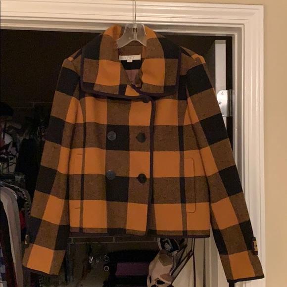 LOFT Jackets & Blazers - Loft buffalo plaid wool coat.